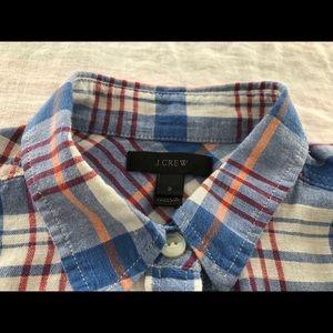 J Crew Perfect Plaid Button Down Shirt